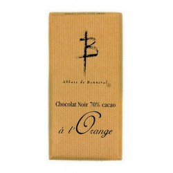 Tablette Chocolat noir 70% cacao à l'orange